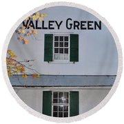 Valley Green Inn - Side View Round Beach Towel