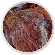 Valley Of Fire 1 Round Beach Towel