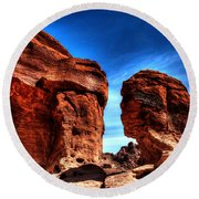 Valley Of Fire Monuments Round Beach Towel