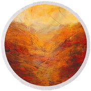 Valley Of Hope Round Beach Towel