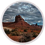 Valley Of The Gods II Round Beach Towel by Robert Bales