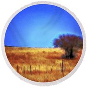 Valley San Carlos Arizona Round Beach Towel