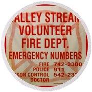 Valley Stream Fire Department Round Beach Towel