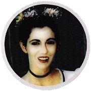 Vampire Bride Round Beach Towel