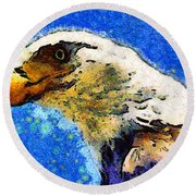 Van Gogh.s American Eagle Under A Starry Night . 40d6715 Round Beach Towel