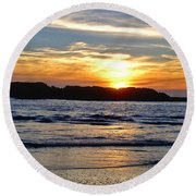 Vancouver Island Sunset Round Beach Towel