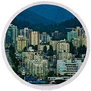 Vancouver Rooms With A View Round Beach Towel
