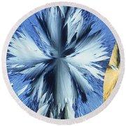Vanillin Crystals Round Beach Towel