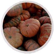 Varied Pumpkins Round Beach Towel