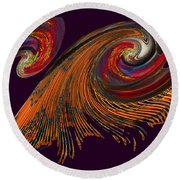 Variegated Abstract Round Beach Towel