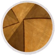 Vaulted Abstract II Round Beach Towel