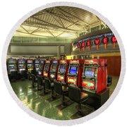 Vegas Airport 2.0 Round Beach Towel