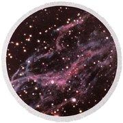 Veil Nebula In Cygnus Round Beach Towel
