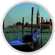 Venetian Gandola Round Beach Towel