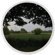 Veneto's Countryside In May Round Beach Towel