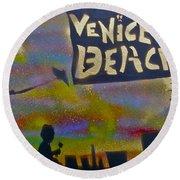 Venice Beach Life Round Beach Towel