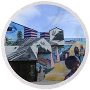 Venice Beach Wall Art 2 Round Beach Towel