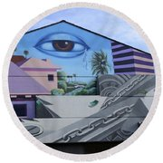 Venice Beach Wall Art 3 Round Beach Towel