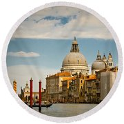Venice Entryway Round Beach Towel