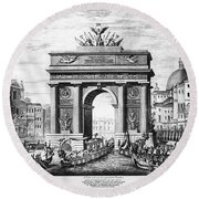 Venice: Grand Canal, 1807 Round Beach Towel