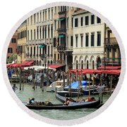 Venice Grand Canal 2 Round Beach Towel