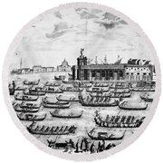 Venice: Grand Canal Round Beach Towel