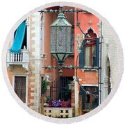 Venice Lamp Round Beach Towel