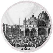 Venice: Saint Marks, 1797 Round Beach Towel