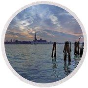 Venice San Giorgio Maggiore Round Beach Towel