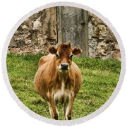Vernon County Cow Round Beach Towel