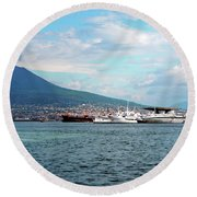 Vesuvio Round Beach Towel