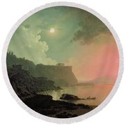 Vesuvius From Posillipo Round Beach Towel by Joseph Wright of Derby