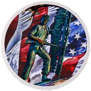 Veteran Warrior Round Beach Towel