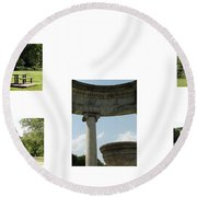 Veterans Park 1 Round Beach Towel