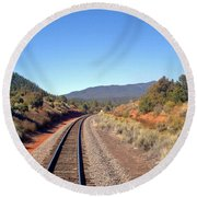 via Train 658 Round Beach Towel