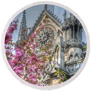 Vibrant Cathedral Round Beach Towel
