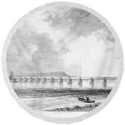 Victoria Bridge Round Beach Towel