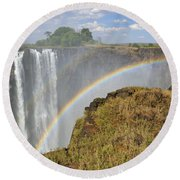 Victoria Falls Round Beach Towel by Tony Beck