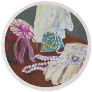Victorian Lace Round Beach Towel