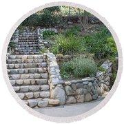 Victorian Stairway Round Beach Towel