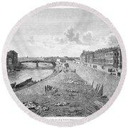 Vienna: Danube, 1821 Round Beach Towel