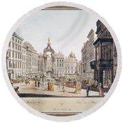 Vienna: Hohemarkt, 1793 Round Beach Towel