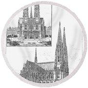Vienna: Votive Church Round Beach Towel