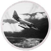 Vietnam War: A4 Skyhawk Round Beach Towel