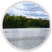 View Across The River Round Beach Towel