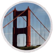 View By The Bay Round Beach Towel