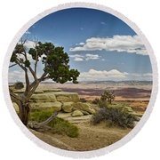 View From A Mesa Round Beach Towel
