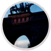 View From Brooklyns Grand Army Plaza Round Beach Towel