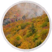 View From North Mountain Look-off Round Beach Towel
