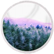 View From Paradise Farm Round Beach Towel